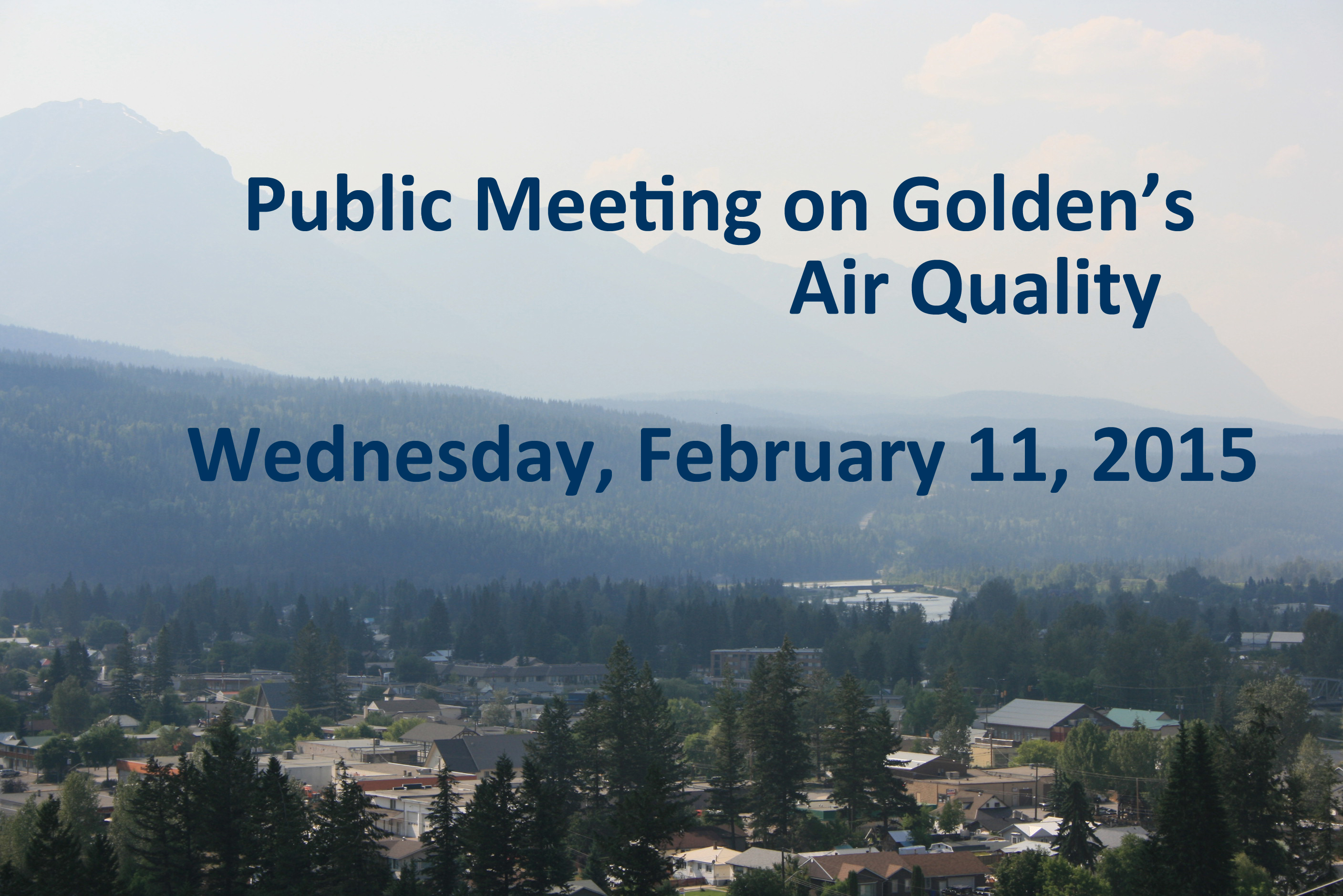 Public Meeting on Air Quality in Golden