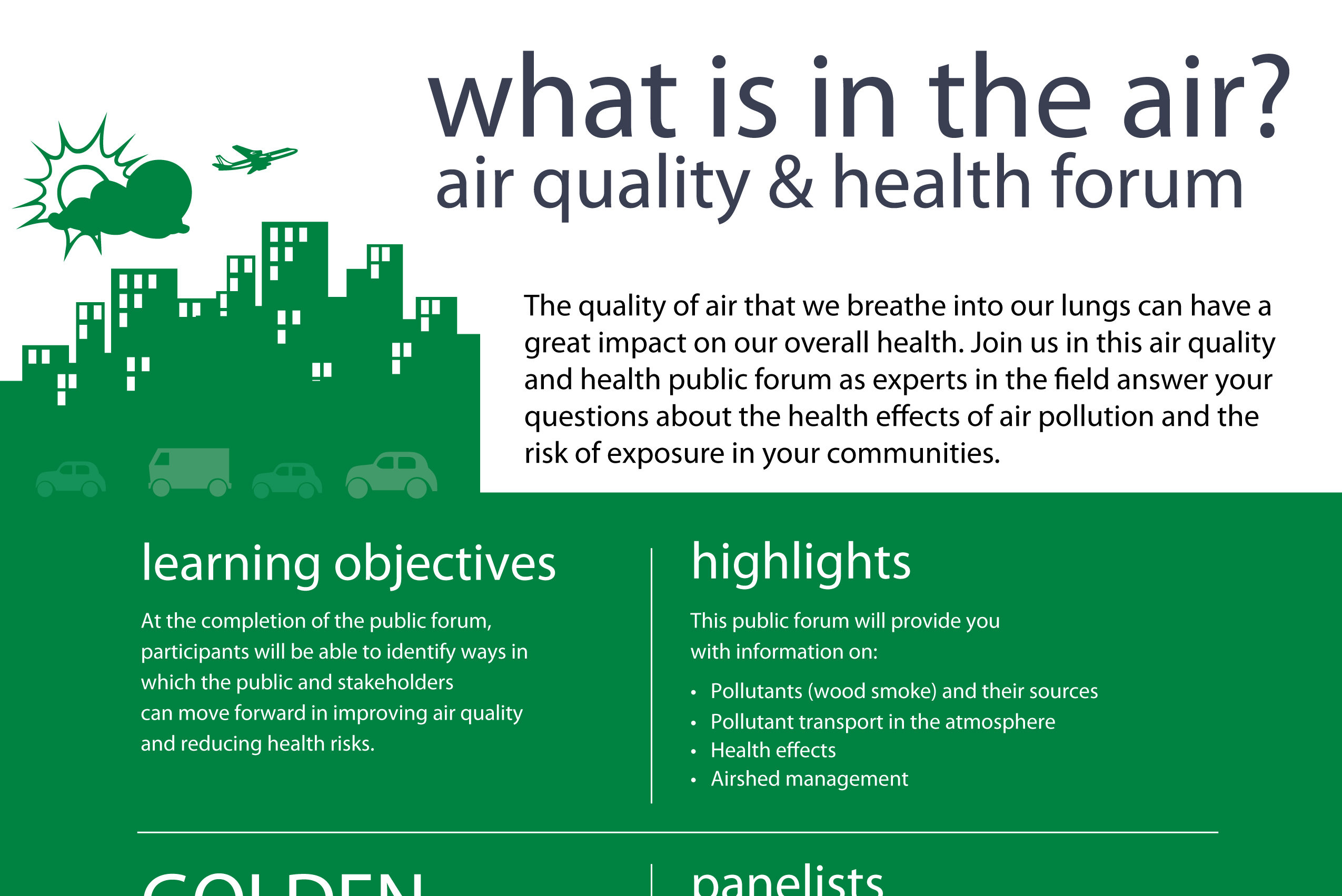 Air Quality and Health Forum Golden October 16 2018